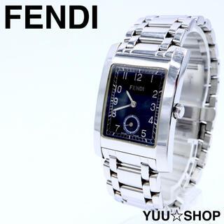 FENDI - 人気【電池新品】FENDI 7000G スモセコ スクエア 腕時計 メンズ 箱付