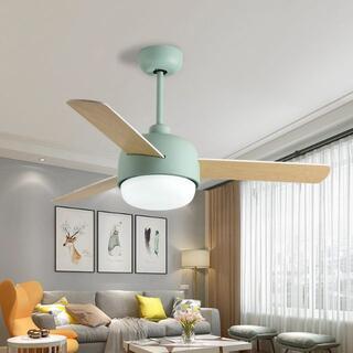 天井ファンライト 112cmレストラン寝室の天井ファンライトLED18W天井ファ(天井照明)