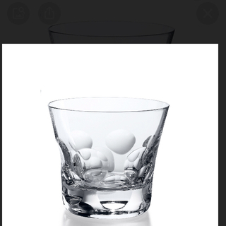バカラ(Baccarat)のバカラベルーガロックグラス未開封2個セット(グラス/カップ)
