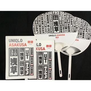 ユニクロ(UNIQLO)の浅草 ユニクロ うちわ ステッカー 千社札 値下げ☆(ノベルティグッズ)