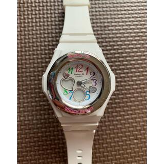 ベビージー(Baby-G)のCASIO Baby-G 腕時計 アナログ ホワイト BGA-101 レディース(腕時計)