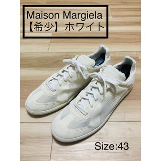 マルタンマルジェラ(Maison Martin Margiela)の【希少】Maison Margiela ジャーマン オールホワイト サイズ43(スニーカー)