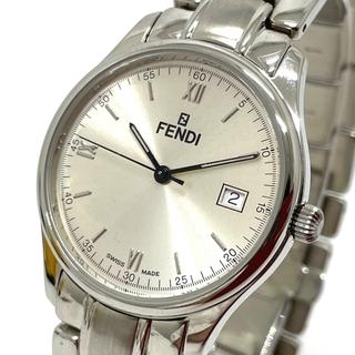 フェンディ(FENDI)のフェンディ 210G デイト メンズ腕時計 シルバー(腕時計(アナログ))