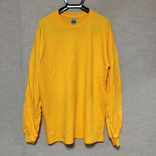 ギルタン(GILDAN)の新品 GILDAN ギルダン 長袖ロンT ゴールド 黄色 M(Tシャツ/カットソー(七分/長袖))