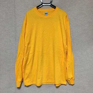 ギルタン(GILDAN)の新品 GILDAN ギルダン 長袖ロンT ゴールド 黄色 L(Tシャツ/カットソー(七分/長袖))