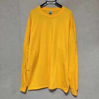 ギルタン(GILDAN)の新品 GILDAN ギルダン 長袖ロンT ゴールド 黄色 XL(Tシャツ/カットソー(七分/長袖))