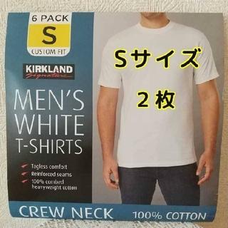 コストコ(コストコ)の【匿名配送】コストコ カークランド メンズ ホワイトTシャツ Sサイズ 2枚(Tシャツ/カットソー(半袖/袖なし))