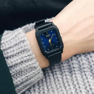 CASIO - LQ-142 CASIO チープカシオ 腕時計 スクエア 四角 青 ブルー