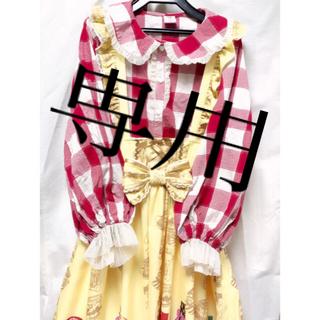 アンジェリックプリティー(Angelic Pretty)の海外ロリィタMori doll 赤チェックブラウス(シャツ/ブラウス(長袖/七分))