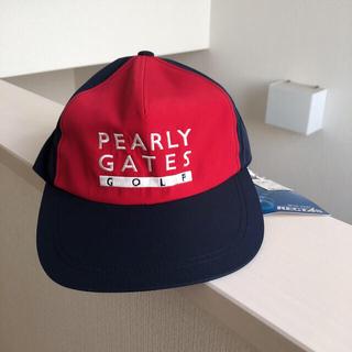 パーリーゲイツ(PEARLY GATES)のパーリーゲイツ PEARLY GATES レインキャップ 未使用(キャップ)