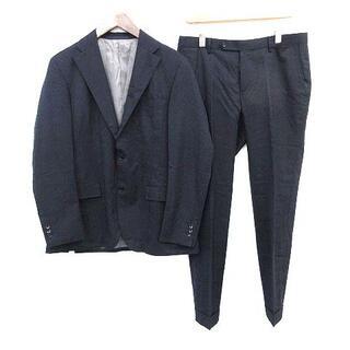 エディフィス(EDIFICE)のエディフィス スーツ セットアップ チェック ジャケット 50 ネイビー (スーツジャケット)