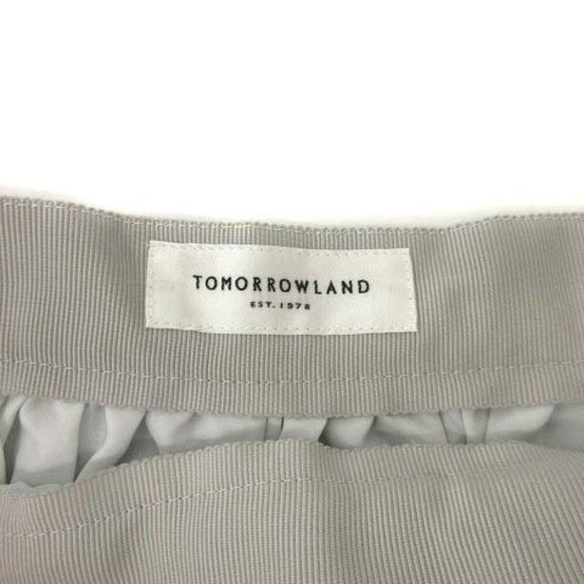 TOMORROWLAND(トゥモローランド)のトゥモローランド ワイドパンツ スラックス 32 XS ライトグレー ■EC レディースのパンツ(その他)の商品写真