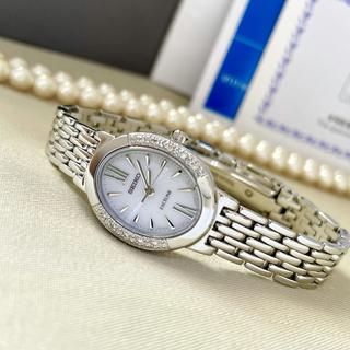 SEIKO - 美品✨クリーニング済 セイコー エクセリーヌ レディース ソーラー時計 ダイヤ