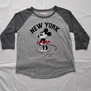 ディズニー(Disney)の∗ディズニー∗Tシャツ∗グレー∗七分丈(Tシャツ(長袖/七分))