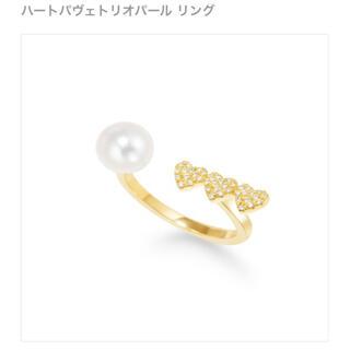 アーカー(AHKAH)のご専用☆AHKAH ハートパヴェトリオパール リング k18 ダイヤモンド(リング(指輪))