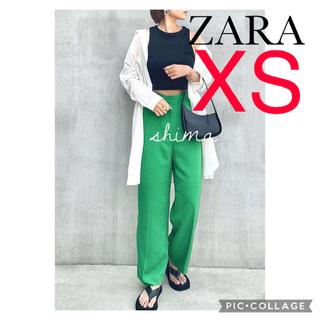 ザラ(ZARA)のZARA マスキュリンワイドレッグパンツ XS ハイラズパンツ(カジュアルパンツ)