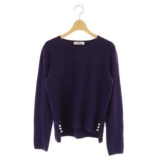 GALLERY VISCONTI - ギャラリービスコンティ ニット セーター パールビジュー 長袖 3 紫