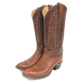 トニーラマ(Tony Lama)のトニーラマ ウエスタンブーツ レザー 刺繍 茶 5 1/2G 6210 靴(ブーツ)
