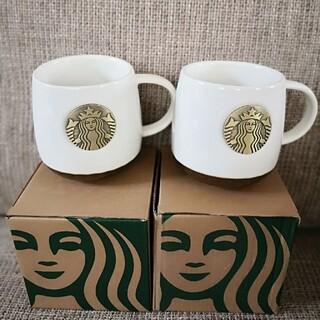 Starbucks Coffee - スターバックス マグカップ ホワイト コーヒーコップ 2点セット