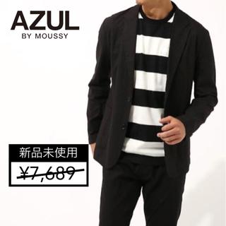 アズールバイマウジー(AZUL by moussy)の【新品】AZUL BY MOUSSY リネンレーヨンストレッチテ-ラードJK(テーラードジャケット)