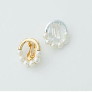 IENA - カリーヌパリ Pearl earring クリップ式 ゴールド 完売品