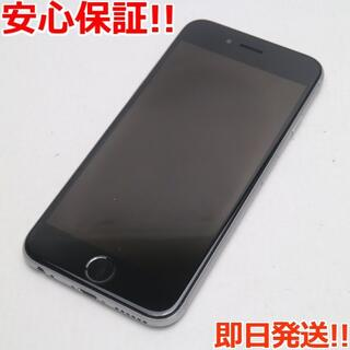 アイフォーン(iPhone)の美品 SIMフリー iPhone6S 16GB スペースグレイ (スマートフォン本体)