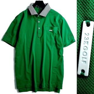 ニジュウサンク(23区)の新品 23区 GOLF ニジュウサンク 半袖 ポロシャツ ゴルフウェア M(ウエア)