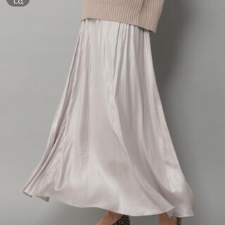 Elura エルーラ ゆらめき艶スカート ライトグレー Lサイズ(ロングスカート)