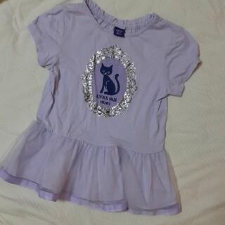 ANNA SUI mini - アナスイミニ チュールTシャツ 130