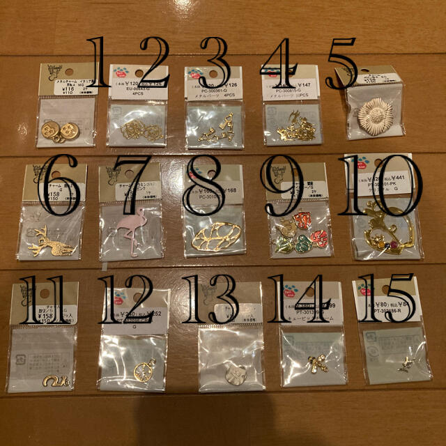 貴和製作所(キワセイサクジョ)の貴和製作所パーツセット15個(¥2800相当) ハンドメイドの素材/材料(各種パーツ)の商品写真