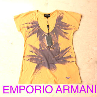 エンポリオアルマーニ(Emporio Armani)の新品 EMPORIO ARMANI エンポリオアルマーニ オレンジ Tシャツ(Tシャツ(半袖/袖なし))