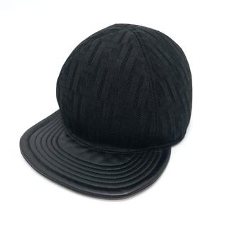 FENDI - 美品 フェンディ メッシュ FFズッカ ロゴグラム 帽子 アパレル ブラック