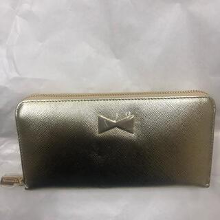 アフタヌーンティー(AfternoonTea)の新品未使用 アフタヌーンティ ファスナー財布 ゴールド革製(財布)
