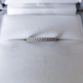 PonteVecchio - ポンテヴェキオ ダイヤモンド パヴェ リング K18WG 0.20ct 1.8g
