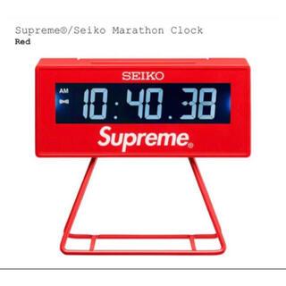 """シュプリーム(Supreme)のSupreme / Seiko Marathon Clock """"Red""""(置時計)"""