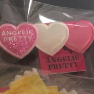 アンジェリックプリティー(Angelic Pretty)のTrio Heartクリップ(バレッタ/ヘアクリップ)