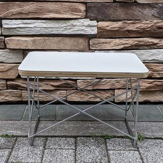 イームズ LTRT テーブル ローテーブル ミニテーブル サイドテーブル 白/銀(ローテーブル)