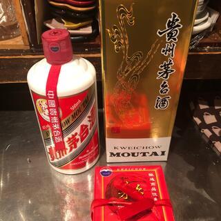 未開封 貴州茅台酒 マオタイシュ 天女ラベル2019 500ml 43%グラス(蒸留酒/スピリッツ)