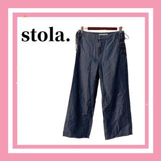 ストラ(Stola.)の美品 Stola ストラ ワイド クロップド パンツ  レディース M(クロップドパンツ)