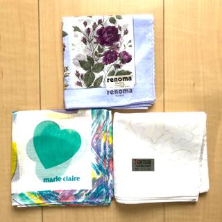 レノマ(RENOMA)のレノマ ,マリ・クレール,寛斎のハンカチ3枚セット(ハンカチ)