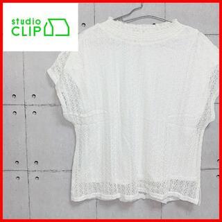 スタディオクリップ(STUDIO CLIP)の美品 studioCLIP スタジオクリップ 半袖 Tシャツ 柄 春 夏 M(Tシャツ(半袖/袖なし))