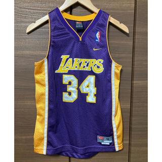NIKE - NBA レイカーズ ユニフォーム タンクトップ シャキール・オニール 34