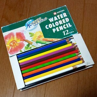 サクラクレパス(サクラクレパス)の水彩色鉛筆 Water COLORED pencil 12色(色鉛筆)