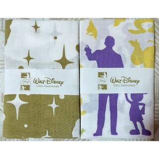 ディズニー(Disney)のウォルトディズニー110thAnniversary手ぬぐい2枚(ハンカチ)