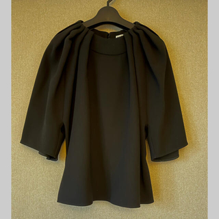 バレンシアガ(Balenciaga)のBALENCIAGA バレンシアガ 美品 ブラックシフォンブラウス(シャツ/ブラウス(長袖/七分))