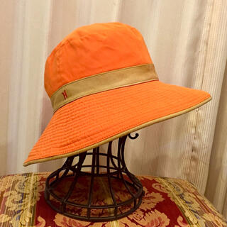 Hermes - HERMES エルメス ハット オレンジ SIZE 57