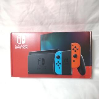 ニンテンドースイッチ(Nintendo Switch)のNintendo Switch 新型ネオンブルー/ネオンレッド 美品(家庭用ゲーム機本体)