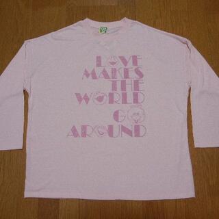 セサミストリート(SESAME STREET)の4L セサミストリート 長袖Tシャツ ピンク (Tシャツ(長袖/七分))