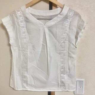 テチチ(Techichi)の新品定価6900円 Techichiボイルローンブラウス M オフホワイト 白 (シャツ/ブラウス(半袖/袖なし))