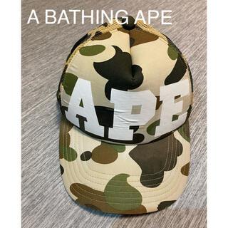 A BATHING APE  BAPE キャップ カモ メッシュ